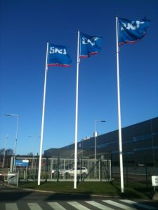 Logotype flags at SKF