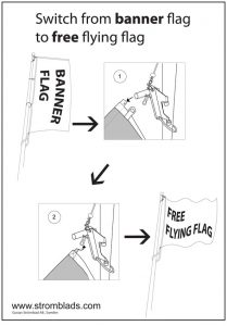 Banner lift mounting instruction how to flag
