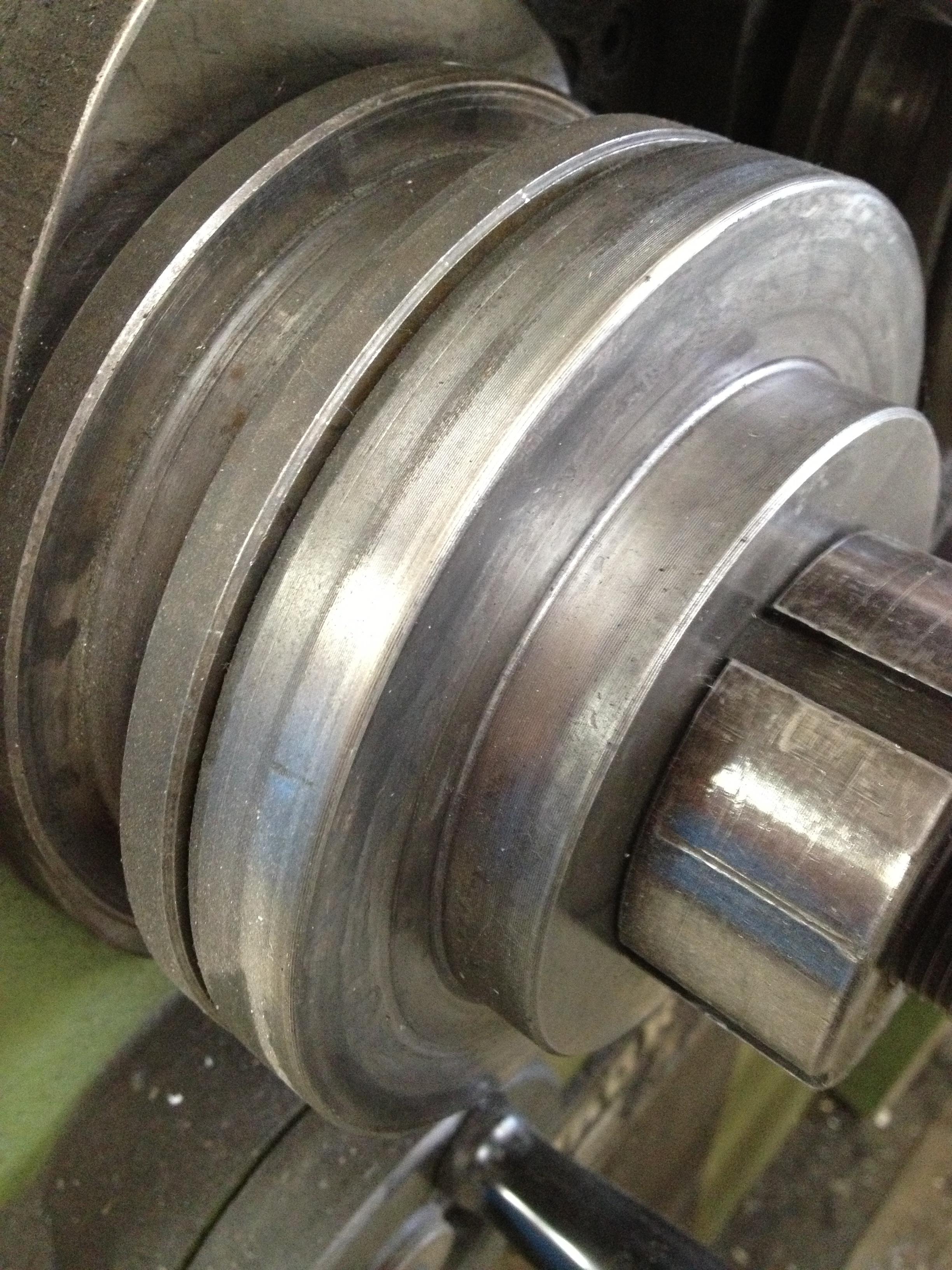 Svarvarbeten i stål