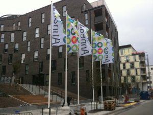 Flaggstänger uthyrning / Stockholm 2012