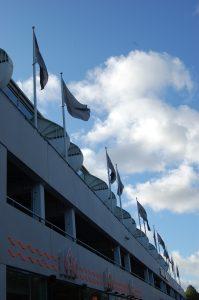 Flaggstångsservice med flaggor